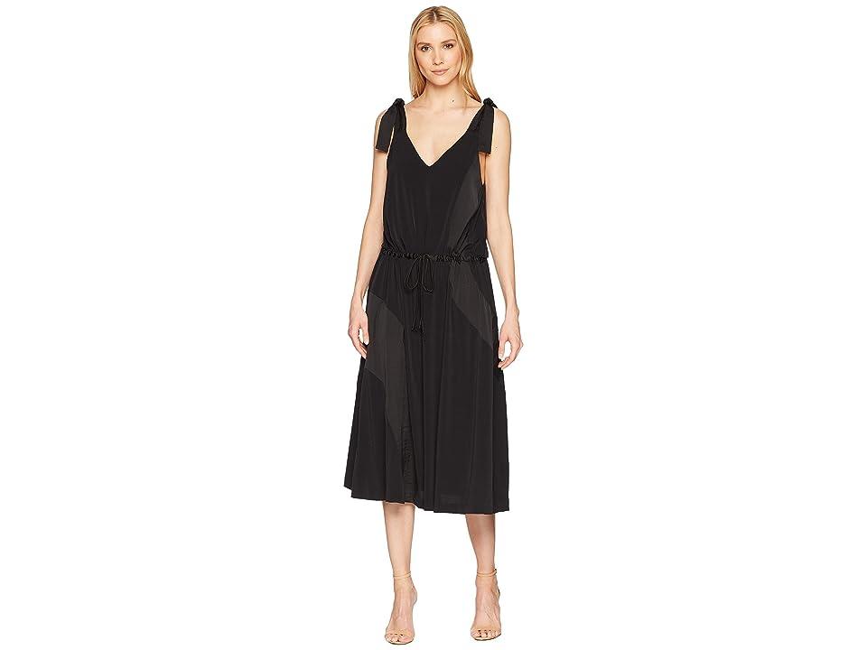 Kenneth Cole New York V-Neck Shoulder Tie Tank Dress (Black) Women
