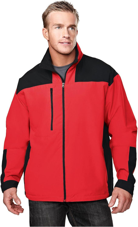 Tri-Mountain Harbor Microfiber Jacket, 4XL, Red/Black