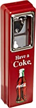 Tablecraft Coca Cola 10-1/2-Inch Wall Mountable Chrome Plated Metal Bottle Opener with Cap Catcher