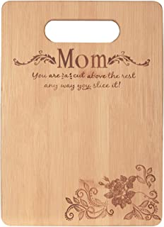 Bamboo Cutting Board-Mother's Day Gift Mom's Birthday Present for Mom From Daughter Kitchen Chopping Board Charcuterie Boa...