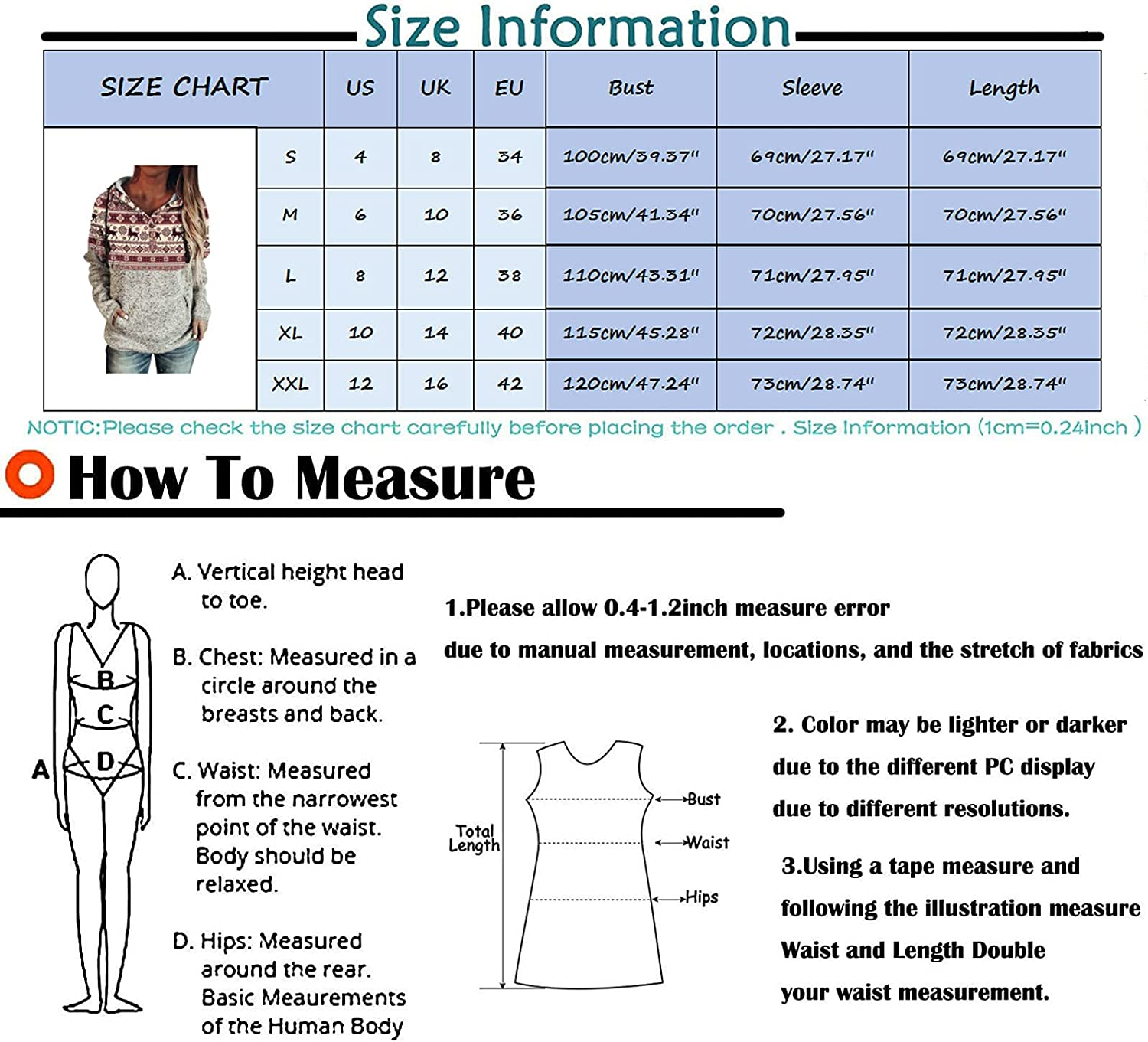 Drawstring Hoodies for Women Long Sleeve Casual Thick Patchwork Snow Graphic Tunic Sweatshirts for Women Plus Size