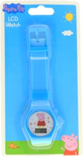 Peppa Pig Digital Watch with Printed Band on Blister Card - Blue