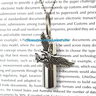 Cremation Permanent Urn Eagle Cremation Necklace, Ashes Holder, Memorial Necklace, Silver Eagle Cremation Locket,cremation jewelry,keepsake urn,urns for ashes