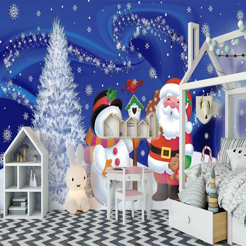 HWCUHL Wall Stickers Kids Bedroom C Same day shipping Background Christmas Direct sale of manufacturer Cartoon