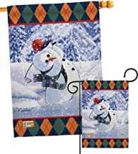 Breeze Decor S114119-BO Snowman Golf Winter Wonderland Impressions Decorative Vertical House 28