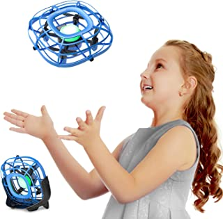 Mini Drone, Levitation UFO Drone, Hand Operated Quad Induction, Easy Controlled 2 Speed, Mini Handheld USB Fan,Toys for Boys and Girls,Tomzon A15 Blue