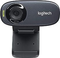 Logitech C310 HD Web Kamerası, 720p/30 FPS, RightLight 2 ile Otomatik Işık Düzeltme, Mono Gürültü Önleyici Mikrofon, Siyah