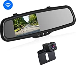 BOSCAM K2 Wireless Backup Camera kit, OEM Rear-View Mirror Monitor with IP68 Waterproof Back Up Car Camera