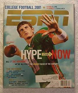 Ken Dorsey - Miami Hurricanes - ESPN Magazine - August 20, 2001 - College Football 2001