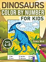 Dinosaurs Color by Number for Kids: Coloring Activity for Ages 4 - 8