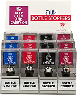 Keep Calm and Carry On Bottle Stopper - 12 count