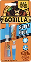 Gorilla Super Glue, 2 Pack of 3 Gram Tubes