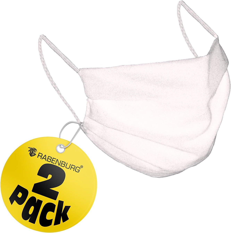 Behelfsmaske Mund Nasenschutz Aus Baumwolle Ökotex 2 Lagige Behelfsmaske Waschbar Wiederverwendbar Weiß 5er Pack Baumarkt