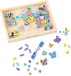 Melissa & Doug 4179 Butterfly Friends Wooden Bead Set with 120 Beads for Jewelry-Making