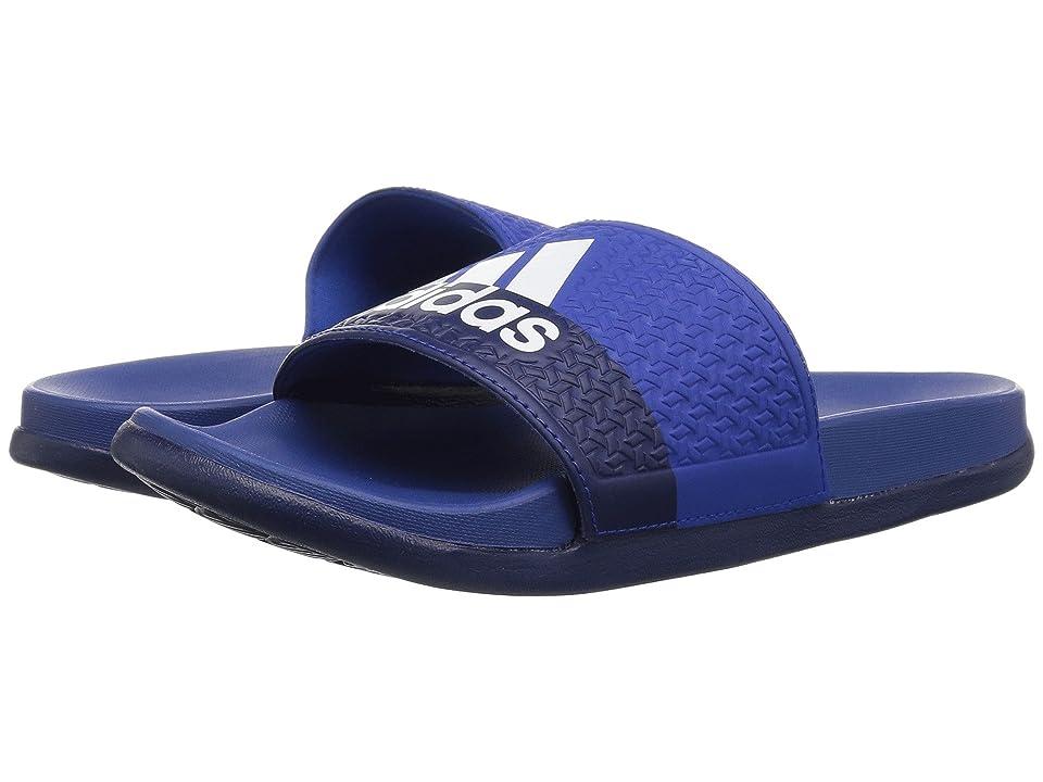 adidas Kids Adilette Comfort (Toddler/Little Kid/Big Kid) (Collegiate Royal/White/Dark Blue) Boy