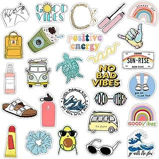 pengxiaomei Water Bottles Stickers, 35 Pcs Vsco Stickers Cute Waterproof Stickers Laptop Vinyl Stickers for Teen Girls and Boys