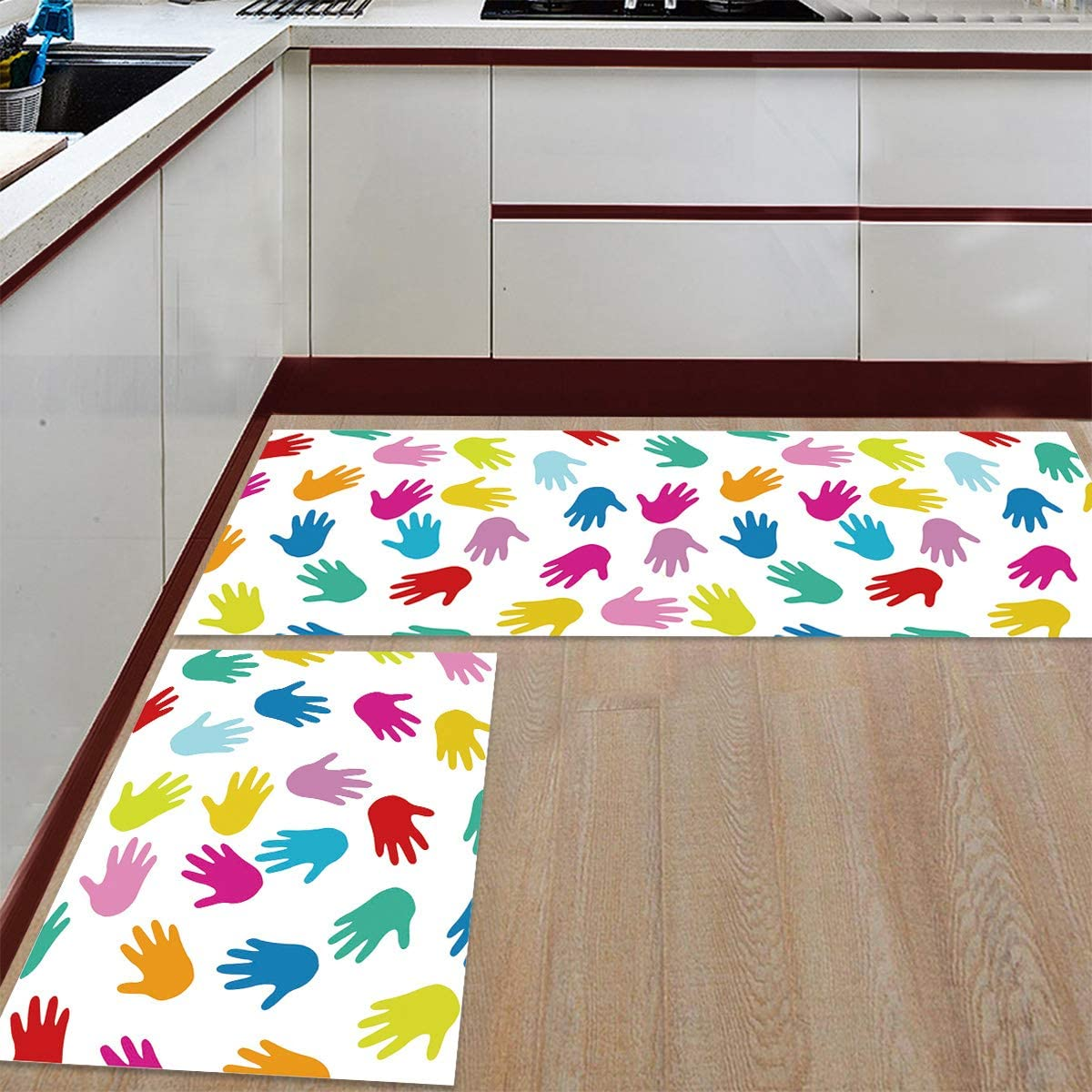 Prime store Leader Kitchen Mat and Rugs 2 Ranking TOP17 Han of Set Colorful Cartoon