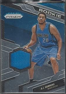 2016-17 Panini Prizm A.J. Hammons Mavericks Rookie Jersey Basketball Card #80