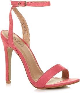d805381fc9a Zapatos de mujer de fiesta, con tacón alto, sandalias con hebilla y