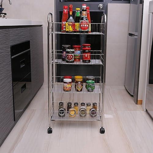 MENA Home Gemüse-Racks verschoben Obst Lagerung Regal Küche Regal (Farbe   Four Layers, Größe   50 cm)