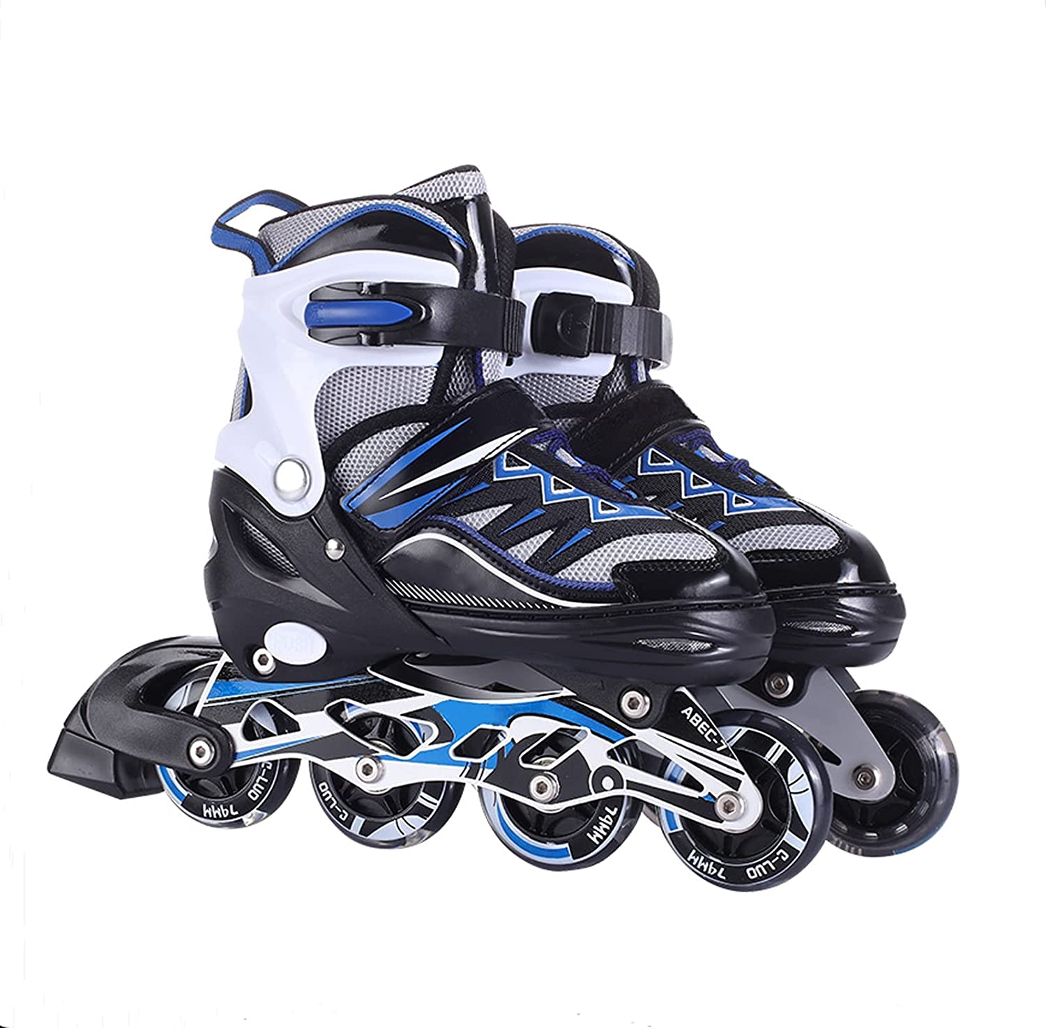 free shipping Limited price sale JIANXINlh Kids Adjustable Inline Skates Light Up Wheels with All