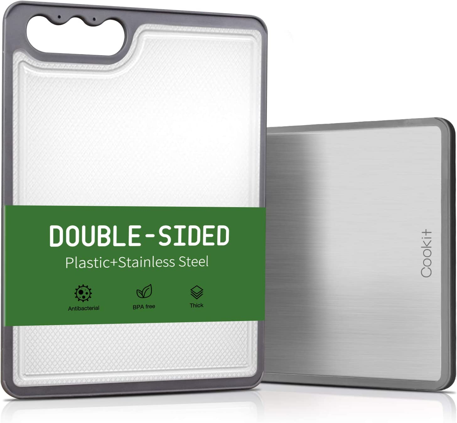 Cookit Plastic Cutting Board for Reversible Stainless St Kitchen Award-winning store New product