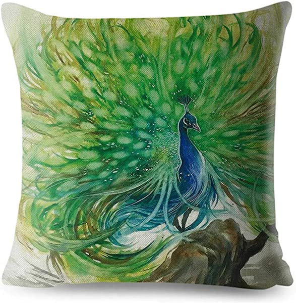 SLS Life Lessons You Can Learn From A Unicorn Cotton Linen Decorative Throw Pillow Case Cushion Cover Lion Piillow Case 18 X18 Color Peacock