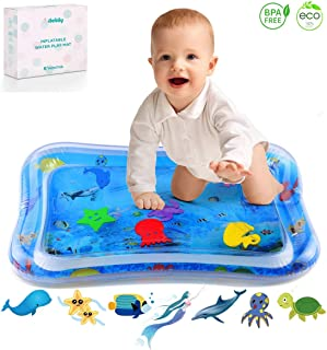 iBeleby Inflatable Tummy Time Water Mat, Baby Playmat - Fun Time Play Activity Center for Infants & Toddlers, Baby Toys 6 to 12 Months, Improve Early Brain Development & Stimulation Growth (Mermaid)