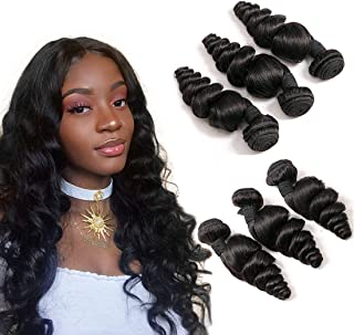 DAIMER Malaysian Hair Bundles Loose Wave Weave Natural Color 20 22 24 Inch Real Unprocessed Virgin Human Hair Extensions 10A Grade