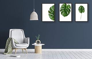 HOMMBAY Wall Decoration Art Bathroom, Bedroom Wall Art Small Fresh Leaves Plant Print Green Wall Art Canvas Room Accessori...