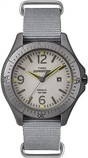 Unisex T499319J Expedition Aluminum Camper Gray Nylon Slip Thru Strap Watch
