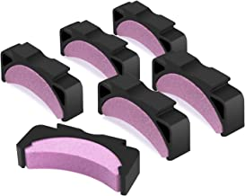 Chainsaw Teeth Sharpener Grindstone, 6 Pcs Chainsaw Fast-Sharpening Stone Replacement kit for Portable Proprietary Bar-Mount Saw Chain Sharpener for 16/18/20-inch Chainsaw (6Pcs+case-Pink)