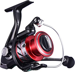 NOEBY NBRE-K2 Fishing Reels + Shallow Spool 5+1BB Spinning Reels Ultra Smooth Reel for Saltwater or Freshwater Bass