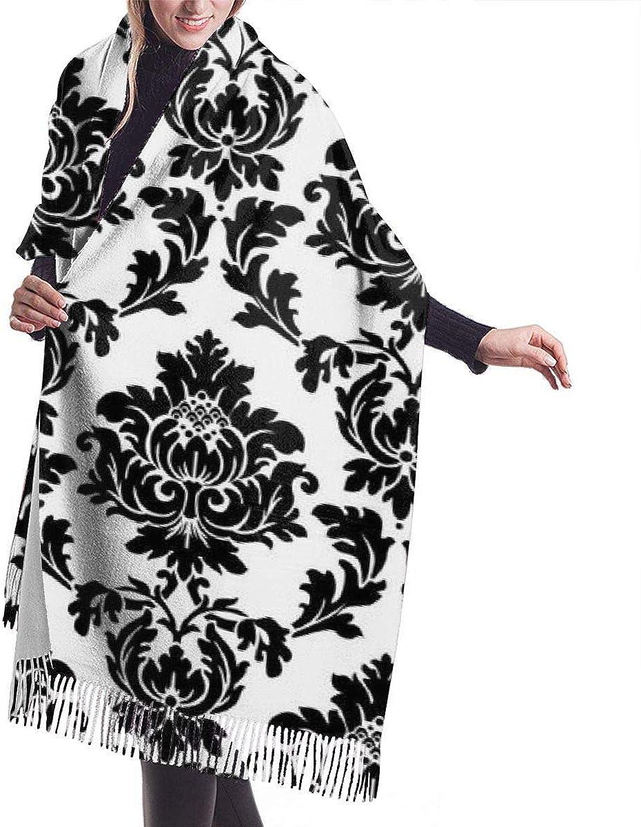 Cashmere Feel Rayon Scarf, Amazing Soft, Cozy Warm, Stylish Fashion Accessories, Black Bowling Pins