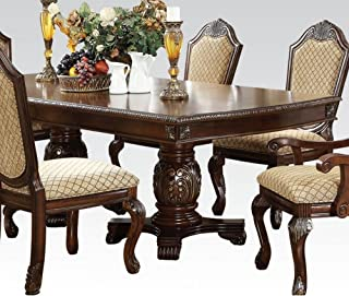 ACME Furniture Chateau De Ville Double Pedestal Dining Table, Espresso