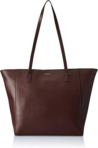 Autumn Winter 20 womens Solid Tote Brown