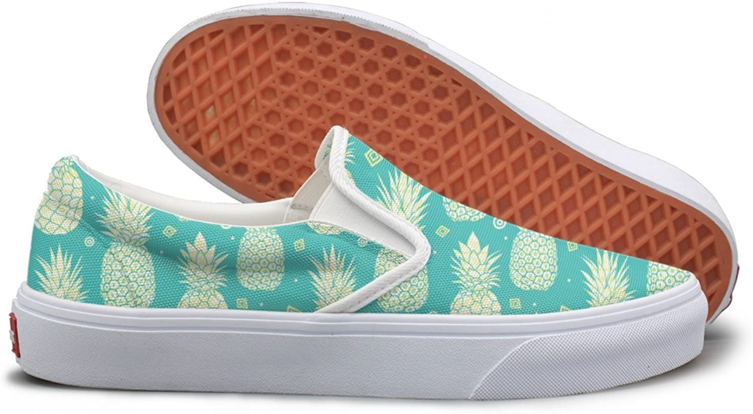 bluee Green Pineapples Summer Tropical Fashion Sneakers For Women