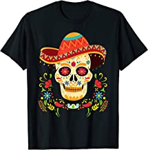 Day Of The Dead Skull Gifts Funny Cinco De Mayo Men Women T-Shirt
