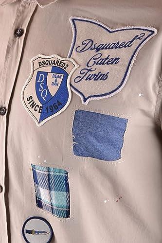 DSQUArojo2 Hombre S74DM0106S36275800 Beigeñalgodon Camisa
