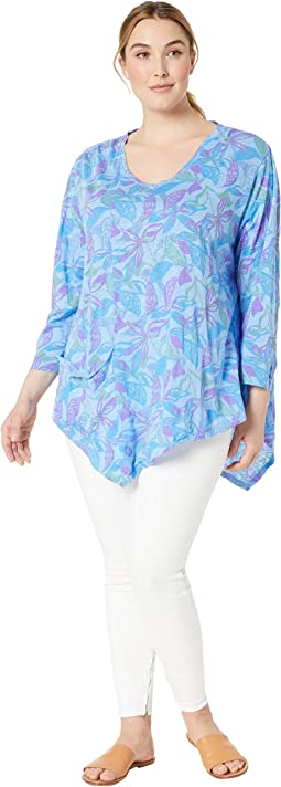Plus Size Beachside Blooms Ella Tunic