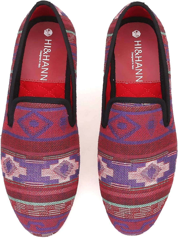 HIHANN Multi 25% OFF Color Weaving Twill Men's OFFicial Loafers Classic Da Cloth