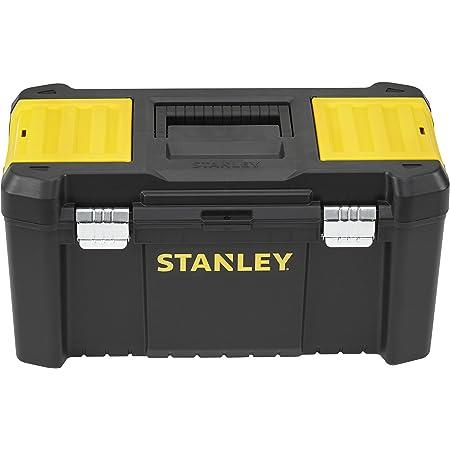 Stanley Stst1-75521 Boite À Outils avec 2 Organiseurs Sur Le Couvercle - Plateau Porte-Outils Amovible - Charnières Plastiques - Attaches métalliques - Cadenassable
