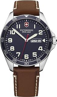 Victorinox - Field Watch Reloj para Hombre Analógico de Cuarzo con Brazalete de Piel de Vaca V241848