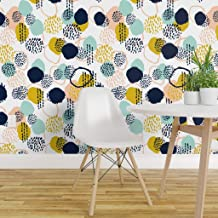 Spoonflower Non-Pasted Wallpaper, Abstract Dot Print, Swatch 12in x 24in