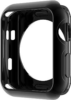 HOCO コンパチブル Apple Watch ケース アップルウォッチ カバー メッキ TPU 保護ケース 耐衝撃性 超簿 脱着簡単 Apple Watch Series 3 / 2に対応 全4色 ブラック 38mm
