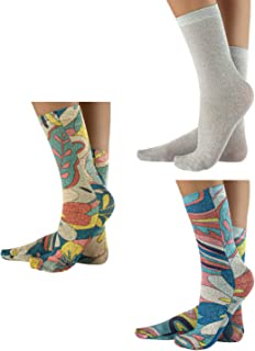 CALZITALY, – PACK 3 PARES Calcetines Mujer, Mini Medias Brillantes, Calcetines Lurex, Medias Fantasia Tie Dye, Floral, Camuflaje, Abstracta | Made in Italy