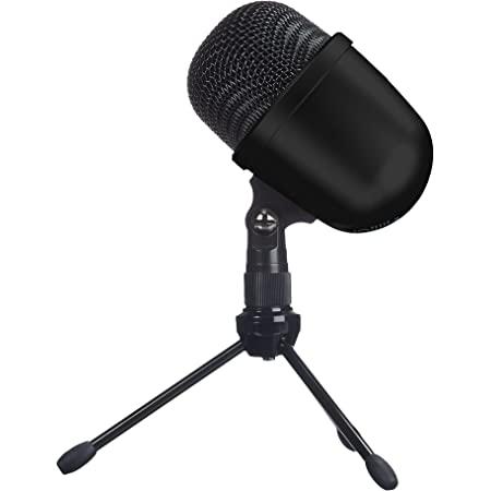 Amazon Basics Desktop Mini Condenser Microphone With Tripod - Black