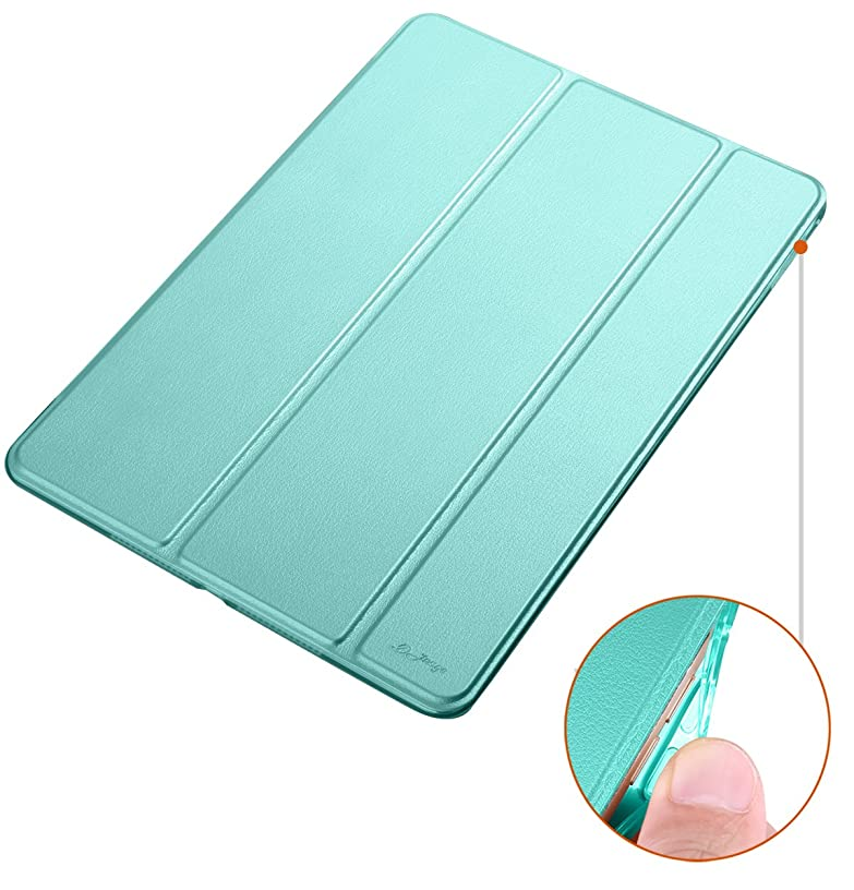 Dyasge Soft TPU Bumper Case with Stand for iPad Air 2 Tablet,Mint Green