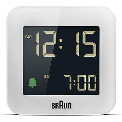 Braun Reloj Despertador de Viaje Digital función repetició