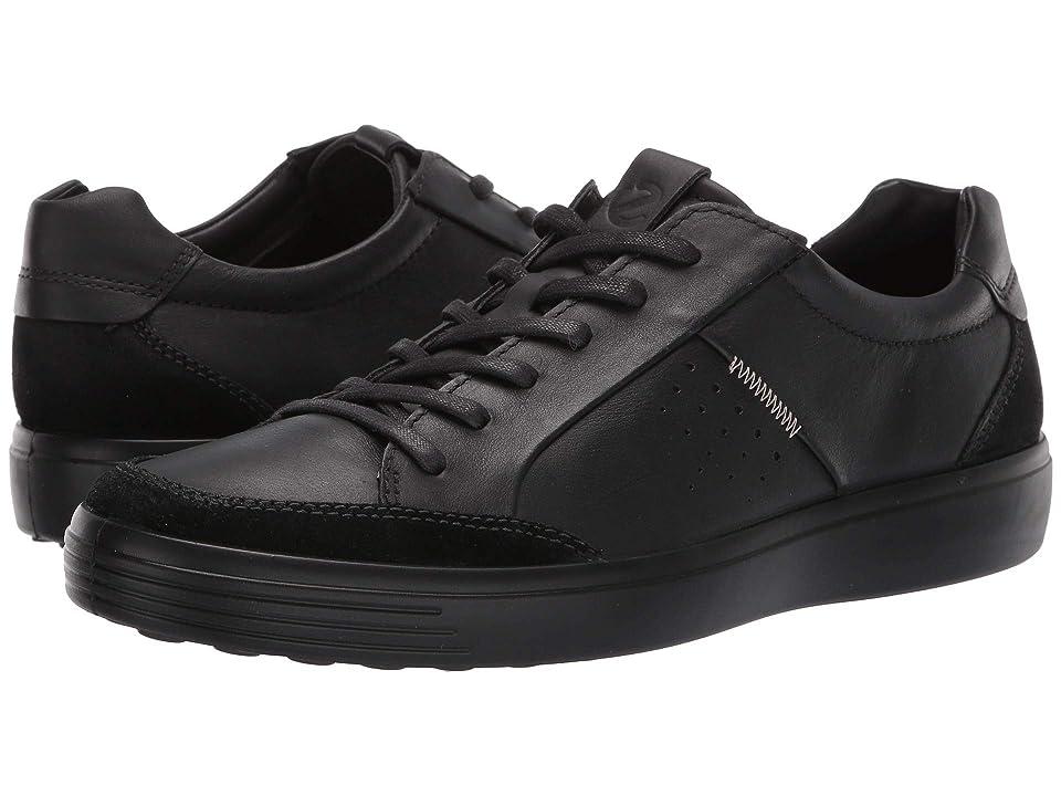 ECCO Soft 7 Relaxed Sneaker (Black/Black) Men